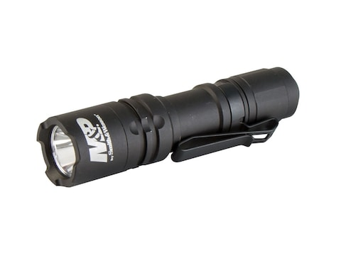 Smith & Wesson Delta Force CS-10 Flashlight LED with 1 AA Battery Aluminum Black