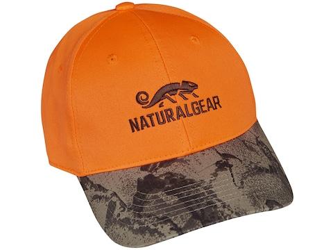 Natural Gear 6 Panel Logo Cap Blaze Camo