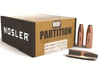 Nosler Partition Bullets 416 Caliber (416 Diameter) 400 Grain Spitzer Box of 50