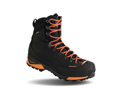 "Crispi Briksdal SF GTX 9"" 200 Gram Insulated Hunting Boots Leather Black/Orange Men's"