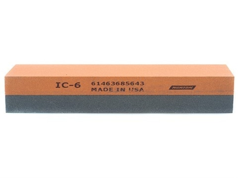 "Norton Crystolon-India 2-Sided Sharpening Stone 6"" x 2"" x 1"" Medium and Fine"