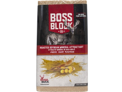Boss Buck Boss Block Soybean Mineral Attractant 4 LB