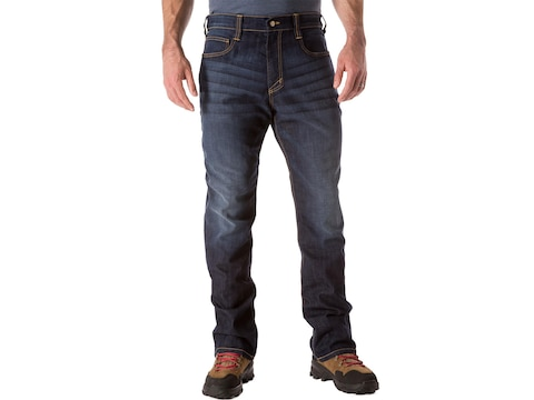 5.11 Men's Defender-Flex Straight Leg Tactical Jeans Cotton/Polyester Denim Blend