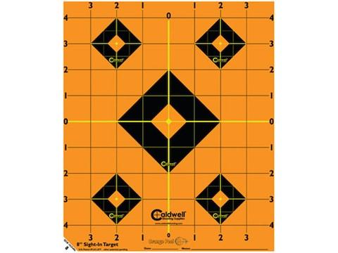"""Caldwell Orange Peel Target 8"""" Self-Adhesive Sight-In Package of 5"""