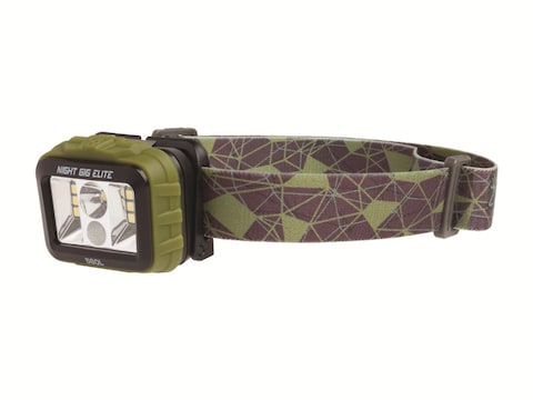 Browning Night GIG Elite Wide Angle Headlamp LED USB Rechargeable Polymer Green
