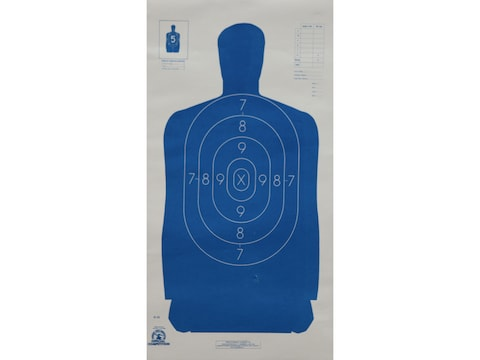 NRA Official Blue Silhouette Targets B-29 50-Foot Paper Package of 100