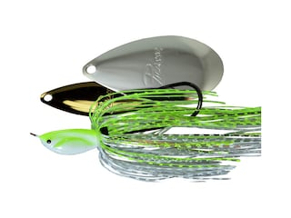 Picasso Super Strong Inviz Wire Willow/Indiana Spinnerbait 1/2oz Chartreuse/White Chrome Gold/Nickel