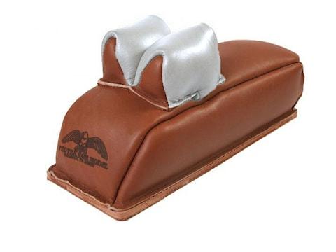 Protektor Super Slick Silver Rabbit Ear Loaf Rear Shooting Rest Bag Leather Tan Filled