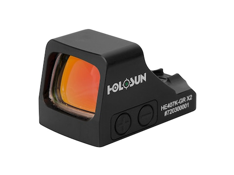 Holosun HE407K-GR-X2 Elite Reflex Sight 1x 6 MOA Green Dot Reticle Matte