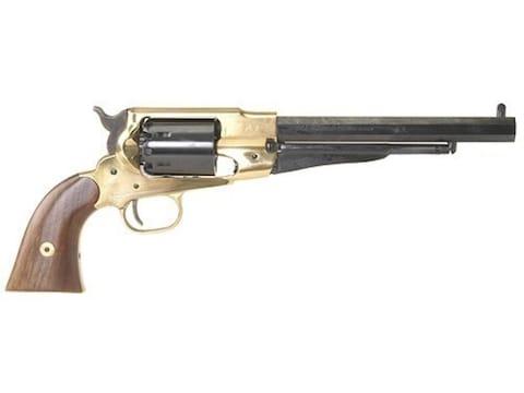 "Pietta 1858 Remington Black Powder Revolver 44 Caliber 8"" Barrel Brass Frame Blue"