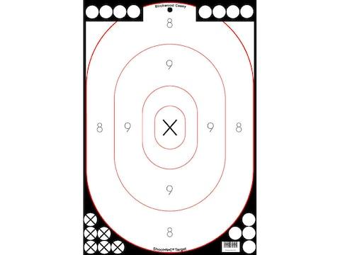 """Birchwood Casey Shoot-N-C White/Black 12"""" x 18"""" Silhouette Targets Pack of 5"""