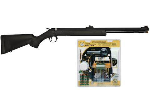 "CVA Wolf Muzzleloading Rifle 50 Caliber with Accessory Kit 24"" Blued Barrel Synthetic S..."