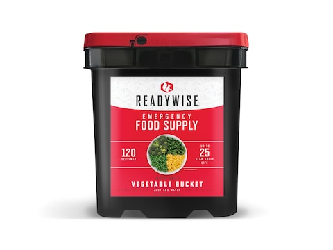 ReadyWise Freeze Dried Vegetable Bucket Freeze Dried Food 120 Serving