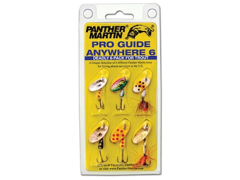 Panther Martin Pro Guide Anywhere 6 Spinner Kit Assorted 1/16-1/8 oz 6PK