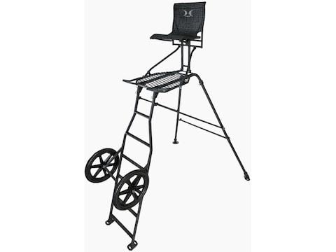 Hawk Transformer Hunt Pod 9' Portable Ladder Treestand Steel Black