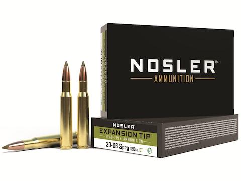 Nosler E-Tip Ammunition 30-06 Springfield 168 Grain E-Tip Lead-Free Box of 20