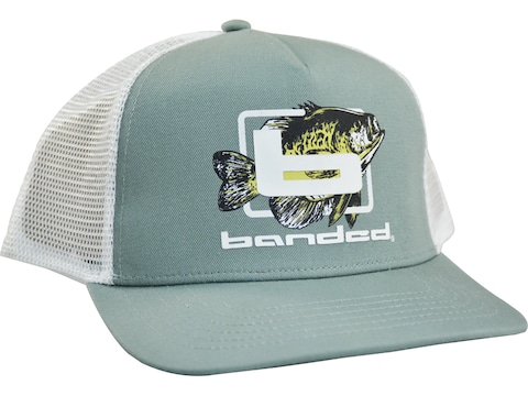 Banded Crappie Day Trucker Cap Sage/White