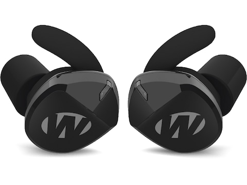 Walker's Silencer 2.0 Bluetooth Rechargeable Electronic Ear Plugs (NRR 23dB) Black Pair