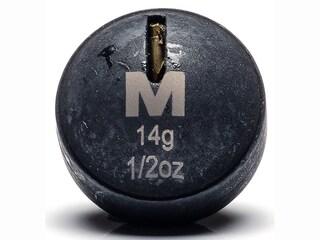 Mustad Round Weight 1/2oz Tungsten Black 2Pk