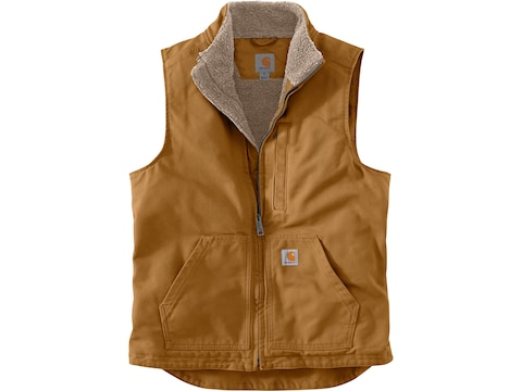 Carhartt Men's Washed Duck Sherpa Lined Mock Neck Vest