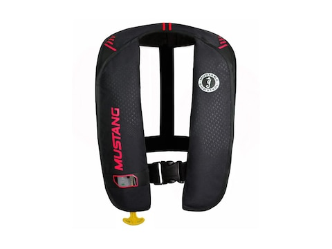 Mustang Survival MIT 100 Manual Inflatable Life Jacket Black/Red