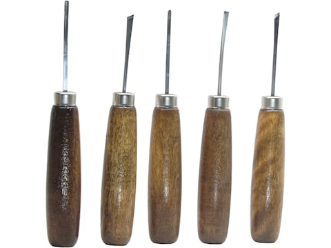 Ramelson 106H Micro Miniature 5-Piece Woodcarving Tool Set with Straight-Style Handles