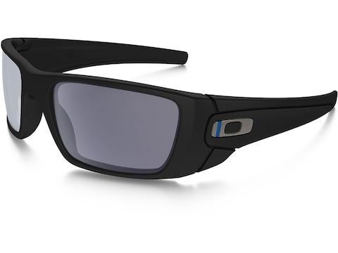 Oakley SI Fuel Cell Thin Blue Line Sunglasses Black Frame/Gray Lens