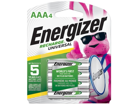 Energizer Recharge Universal Battery AAA 1.2 Volt NiMH 700 mAH
