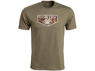 Vortex Optics Men's Topography Short Sleeve T-Shirt Cotton/Poly Olive Heather Medium