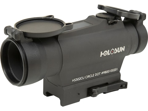Holosun HS502CU Red Dot Sight 1x 30mm 65 MOA Circle with 2 MOA Dot Weaver-Style Mount S...