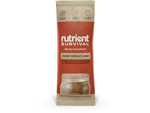 Nutrient Survival Creamy Chocolate Shake Freeze Dried Food