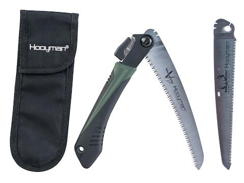 "Hooyman Megabite Hunters Combo Folding Saw 8"" High Carbon SK5 Blades Polymer Handle Bla..."