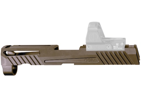 Grey Ghost Precision V1 Slide Sig P320 Compact RMR, DeltaPoint Pro Cut Stainless Steel