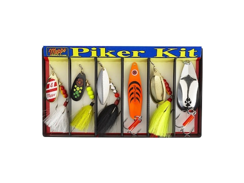 Mepps Piker Kit Plain & Dressed 6PK