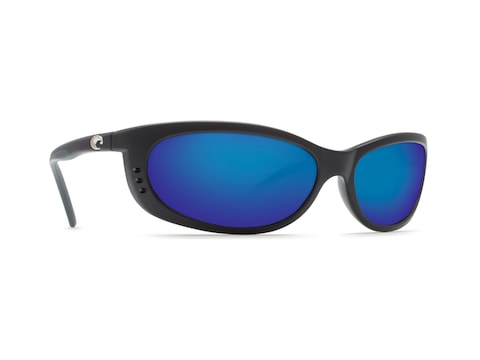 Costa Del Mar Fathom Polarized Sunglasses Matte Black Frame/Blue Mirror Lens