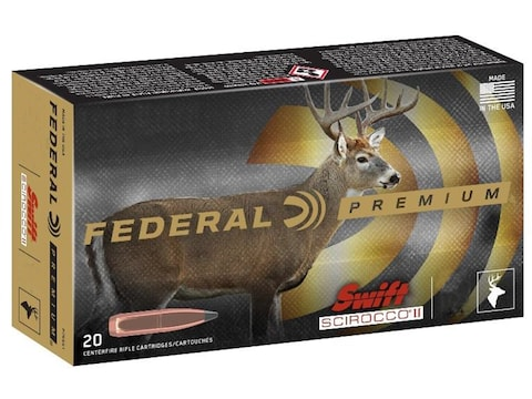 Federal Premium Ammunition 270 Winchester 130 Grain Swift Scirocco II Box of 20
