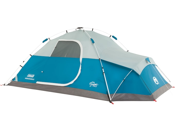 """Coleman Juniper Lake 4 Man Instant Dome Tent 78x""""x 108""""x50"""" with Annex Polyester White and Blue"""