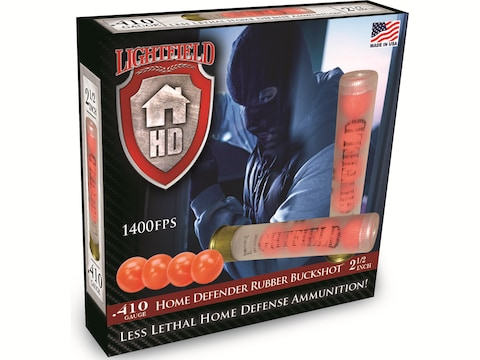 "Lightfield Home Defender Less Lethal Ammunition 410 Bore 2-1/2"" Rubber Buckshot 4 Pelle..."
