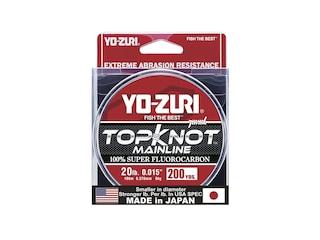Yo-Zuri Topknot Mainline Fluorocarbon Fishing Line 20lb 200yd Natural Clear