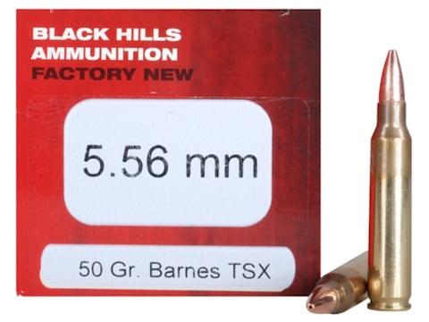 Black Hills Ammunition 5.56x45mm NATO 50 Grain Barnes TSX Hollow Point Lead-Free