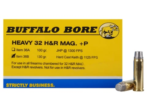 Buffalo Bore Ammunition Outdoorsman 32 H&R Magnum +P 130 Grain Hard Cast Lead Semi-Wadc...