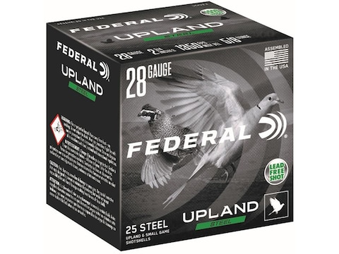 "Federal Upland Steel Ammunition 28 Gauge 2-3/4"" 5/8 oz Non-Toxic Steel Shot"