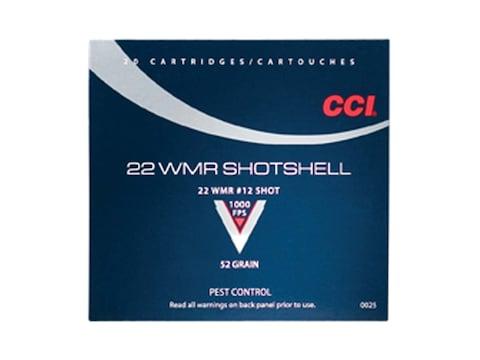 CCI Shotshell Ammunition 22 Winchester Magnum Rimfire (WMR) 52 Grain #12 Shot Shotshell...