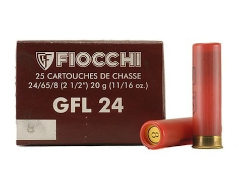 "Fiocchi Field Load Ammunition 24 Gauge 2-1/2"" 11/16 oz"