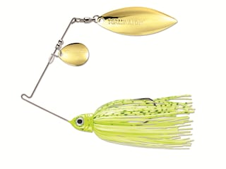 Terminator Pro Series Tandem Spinnerbait 3/8oz Dirty Chartreuse Shad Gold