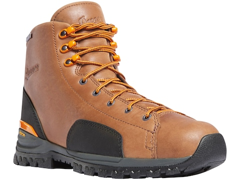 """Danner Stronghold 6"""" Non-Metallic Safety Toe Work Boots Leather/Nylon Brown/Orange Men's"""