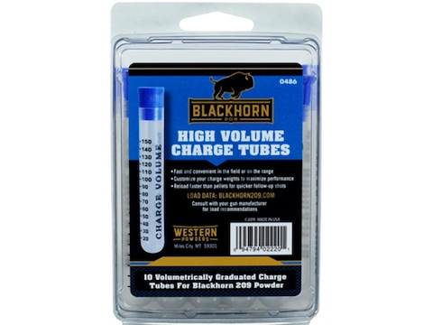 Blackhorn 209 High Volume Charge Powder Tubes Pack of 10