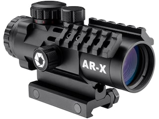 Barska IR AR-X Prism Sight 3x 32mm APSR31 Red/Green Illuminated AR-X Mil-Dot Reticle with Picatinny-Style Mount Matte