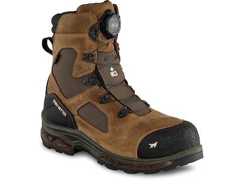"Irish Setter Kasota BOA Non-Metallic Safety Toe 8"" Insulated Work Boots Leather Men's"