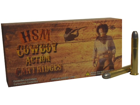 HSM Cowboy Action Ammunition 38-55 WCF 240 Grain Hard Cast Round Nose Flat Point Box of 20